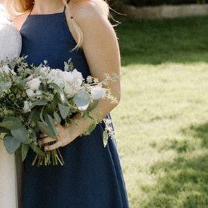 Navy Blue Bridesmaid Dress!
